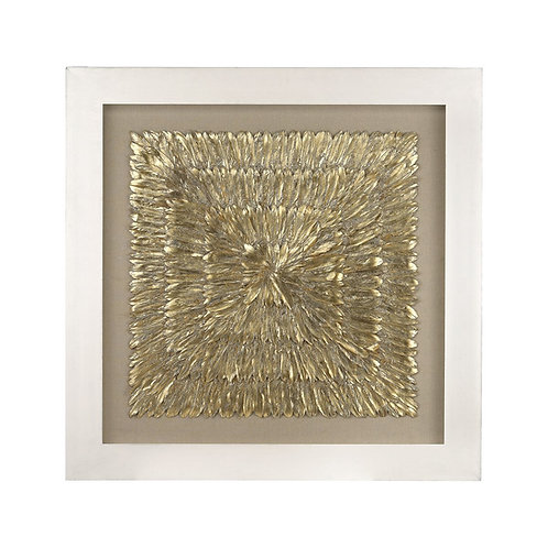 Gold Feather Art