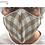 Thumbnail: Mascarilla Textil Lavable - Cuadros Beig