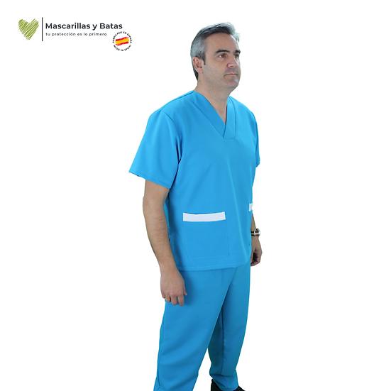 Conjunto Casaca Celeste Hombre + Pantalón - Hidrófugo y Antibacteriano