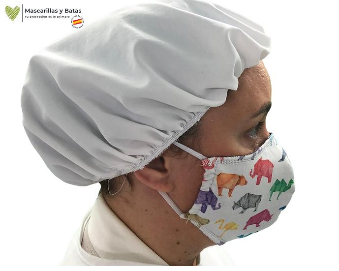 Gorro Medico Impermeable - Blanco 10