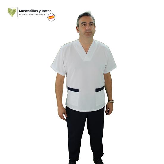 Conjunto Casaca Blanca Hombre + Pantalón - Hidrófugo y Antibacteriano