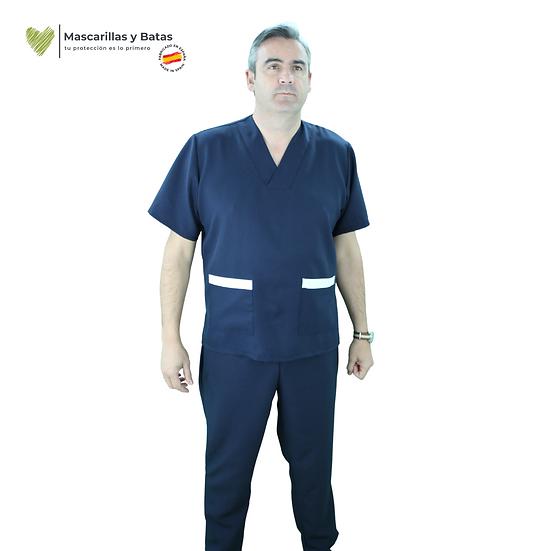 Conjunto Casaca Marino Hombre + Pantalón - Hidrófugo y Antibacteriano