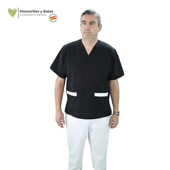 Conjunto Casaca Negra Hombre + Pantalón - Hidrófugo y Antibacteriano