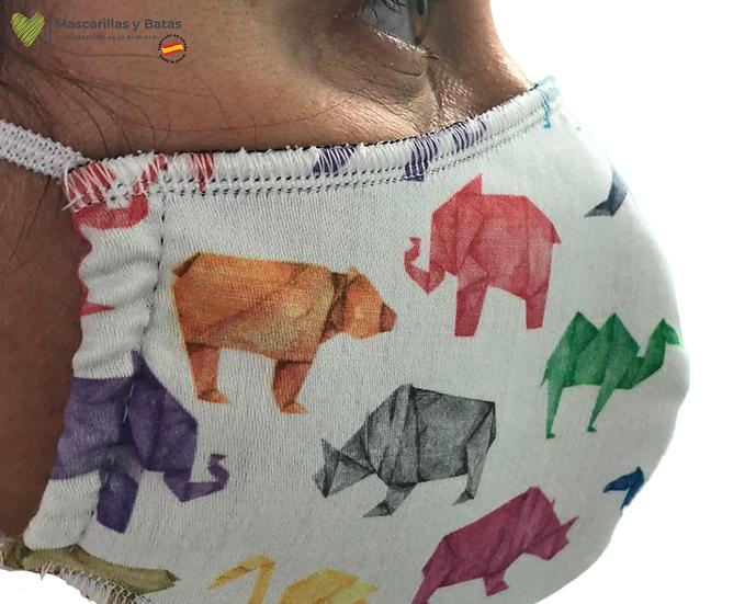 Mascarilla Textil Lavable - Dinosaurios