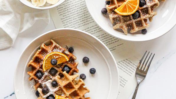 Vegan & Gluten-Free Spiced Oat Waffles