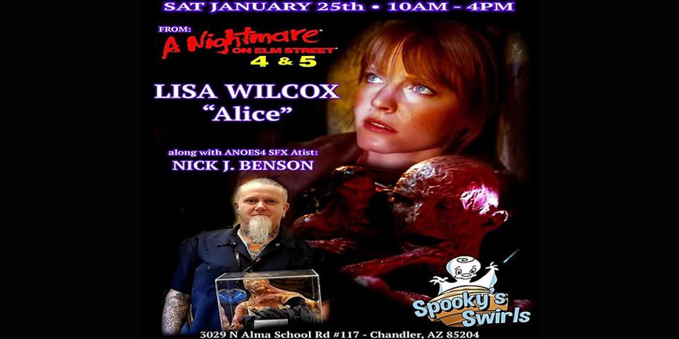 Lisa Wilcox & Nick J Benson Signing @ Spooky's Swirls