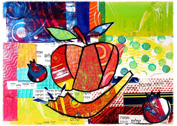 Apples Shofar Pomegrante
