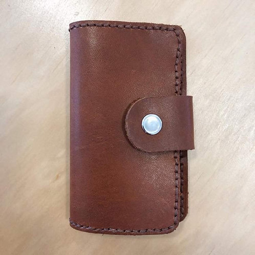 Leather Card Holder Tan Brown