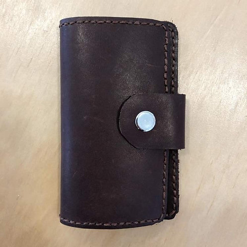 Leather Card Holder Red Wine