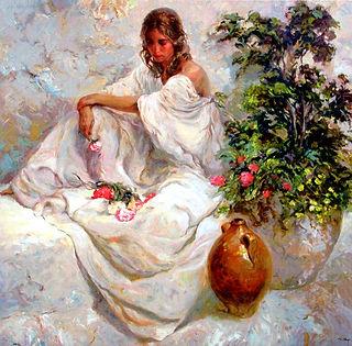 Blancos- beautiful woman in whites