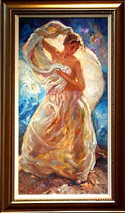 Summer- woman with shear draping in sunlight