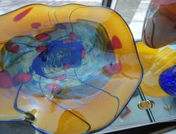 seattle glass blowing platter