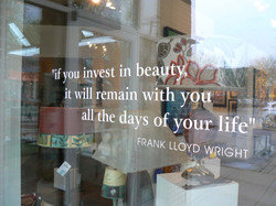 FLW Quote- Front Window