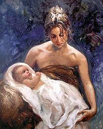 Genesis-beginning or origin, woman with childe