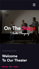 Creative Arts website templates – Theater Company