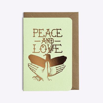 Carte peace and love