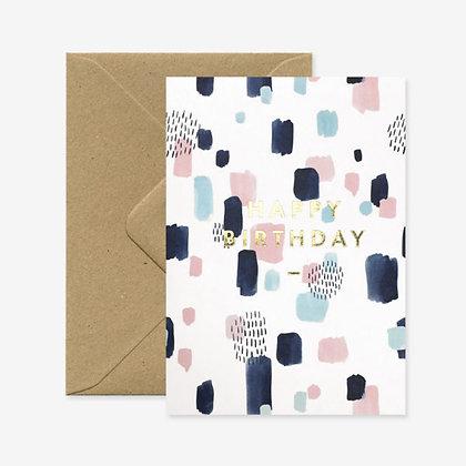Carte Birthday peinture