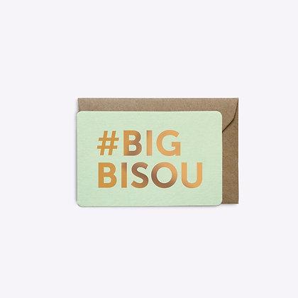 Mini carte Big bisou