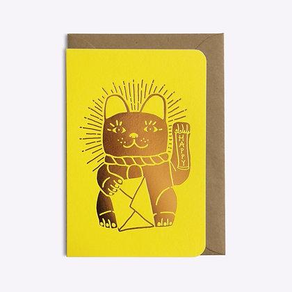 Carte Lucky cat