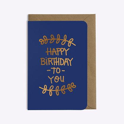 Carte Happy birthday
