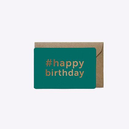 Mini carte #Birthday canard