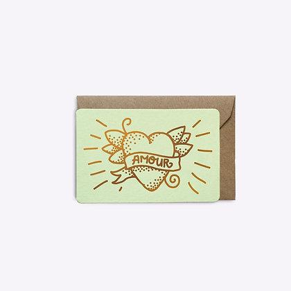 Mini carte Amour menthe