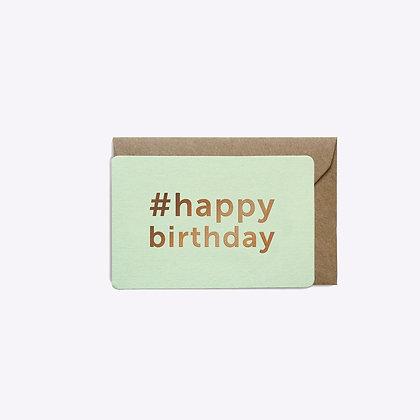 Mini carte #Birthday menthe