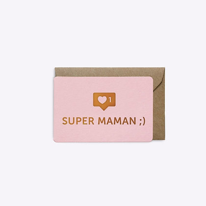 Mini carte Super maman
