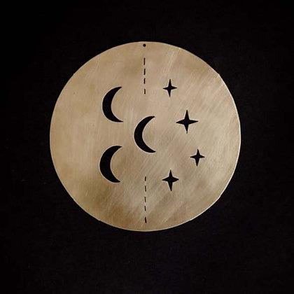 Déco médaillon lune-étoiles