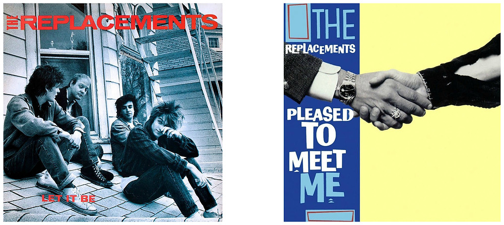 The Replacements Let It Be and Pleased To Meet Me. Cover photos by Daniel Corrigan.