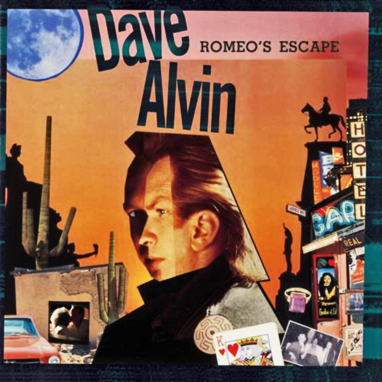 Dave Alvin – Romeo's Escape (Epic, 1987). Cover art by Lou Beach.