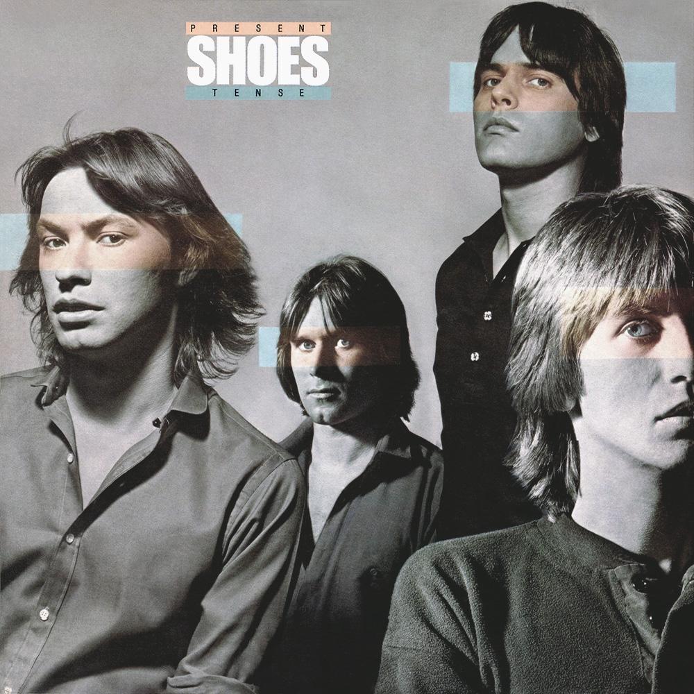 Shoes - Present Tense (Elektra, 1979). Photography by Elliot Gilbert.