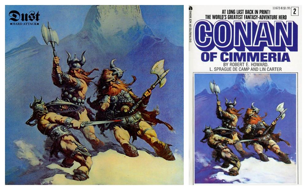Dust - Hard Attack (Kama Sutra, 1972). Cover art by Frank Frazetta.