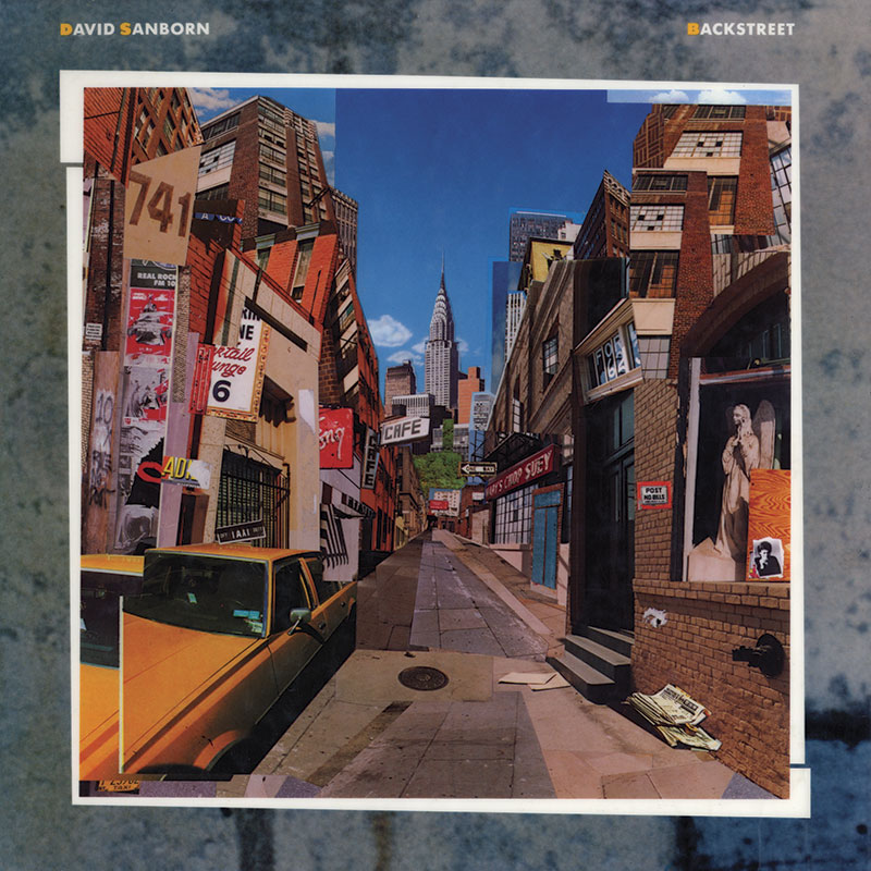 David Sanborn - Backstreet (Warner Bros., 1983). Cover art by Lou Beach.