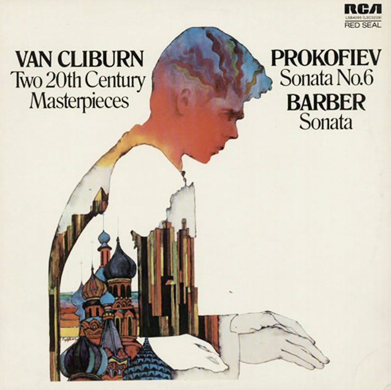 Van Cliburn - Prokofieff/Barber ‎– Two 20th-Century Masterpieces (RCA, 1971). Cover art by Bob Pepper.