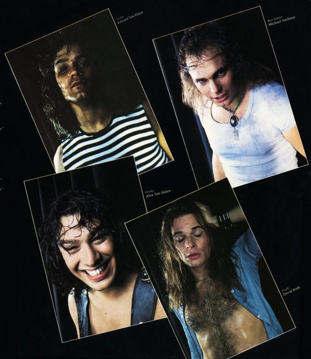 Inner sleeve of Van Halen - Van Halen (Warner Bros., 1978). Photography by Elliot Gilbert.
