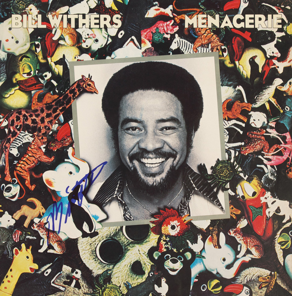 Bill Withers - Menagerie (Columbia, 1977). Photography by Elliot Gilbert.