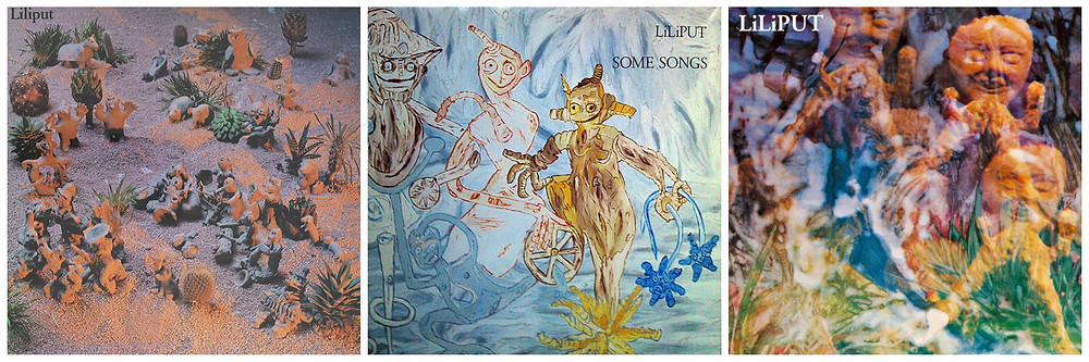 Klaudia Schiff's designs for LiliPUT (Rough Trade, 1982), Some Songs (Rough Trade, 1983) and the self-titled retrospective (Off Course, 1993)