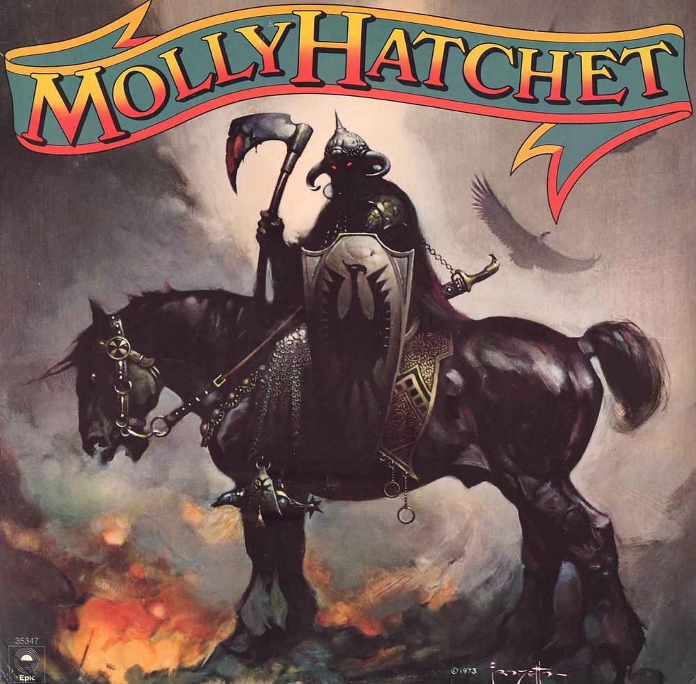 Molly Hatchet - Molly Hatchet (Epic, 1979). Cover art by Frank Frazetta.