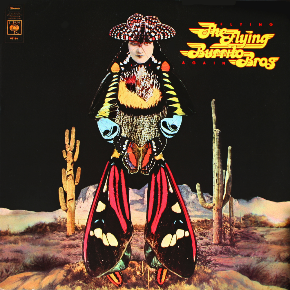 The Flying Burrito Bros - Flying Again (Columbia, 1975). Cover art by Lou Beach.