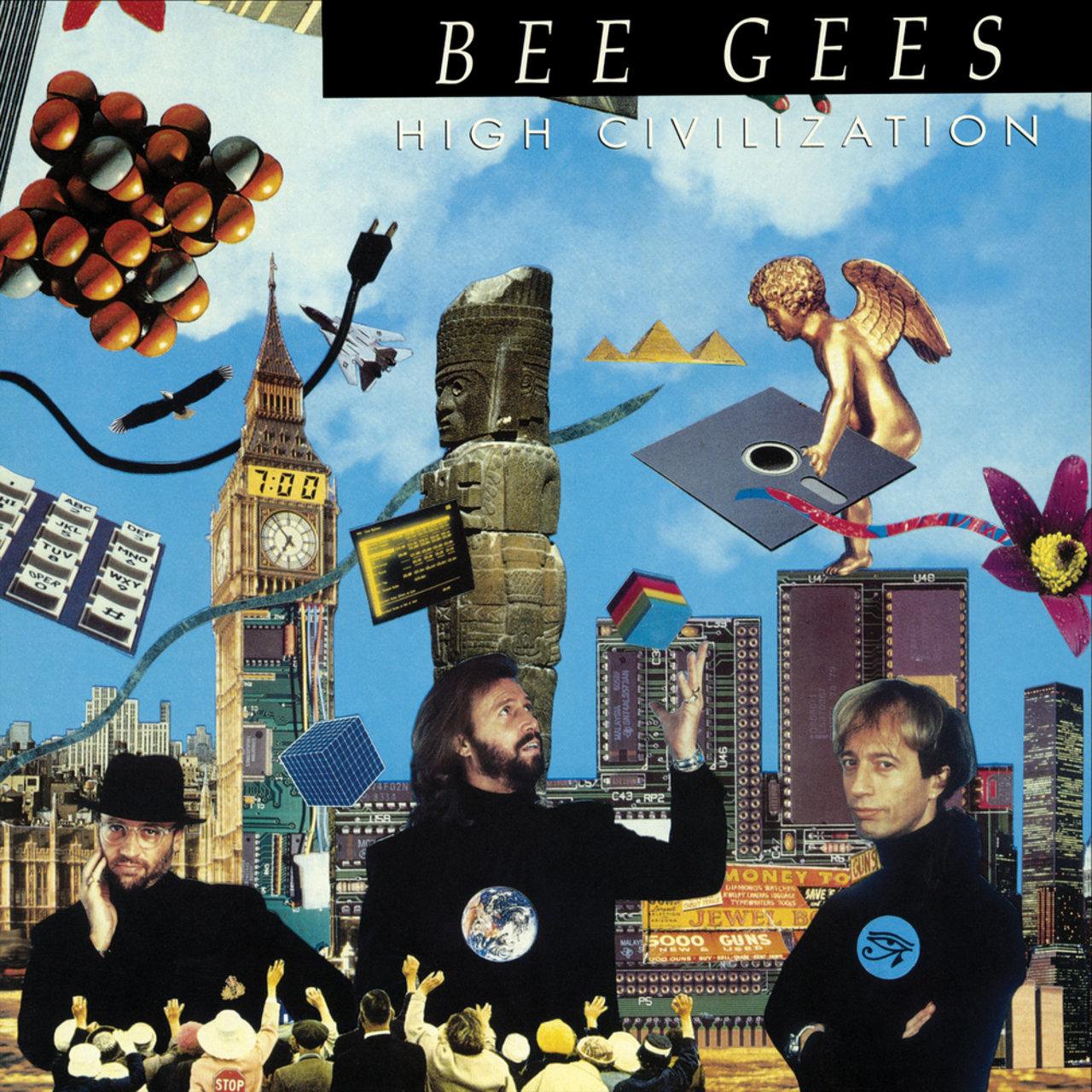 Bee Gees - High Civilization (Warner Bros., 1991). Cover art by Lou Beach.