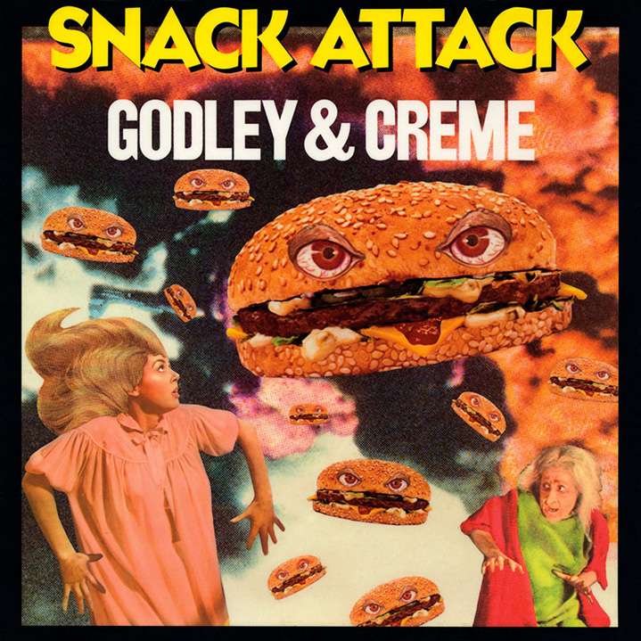 Godley & Creme - Snack Attack (Mirage, 1982). Cover art by Lou Beach.