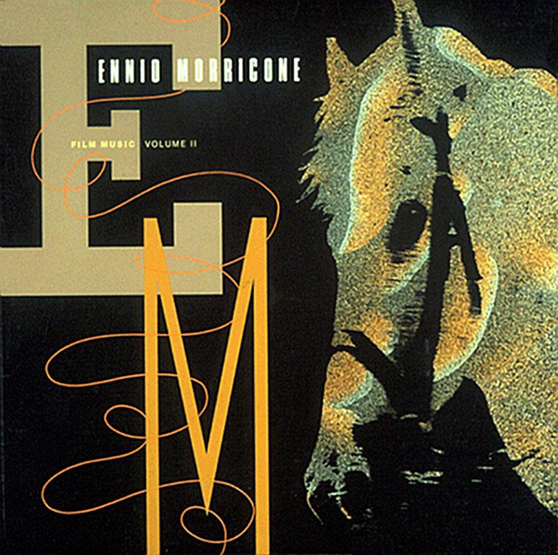Ennio Morricone - Film Music Volume II (Virgin, 1988). Cover art by Lou Beach.