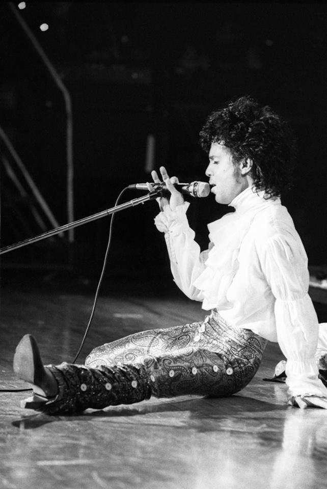 Prince live at the Minnesota Music Awards, 1984. Photo by Daniel Corrigan.
