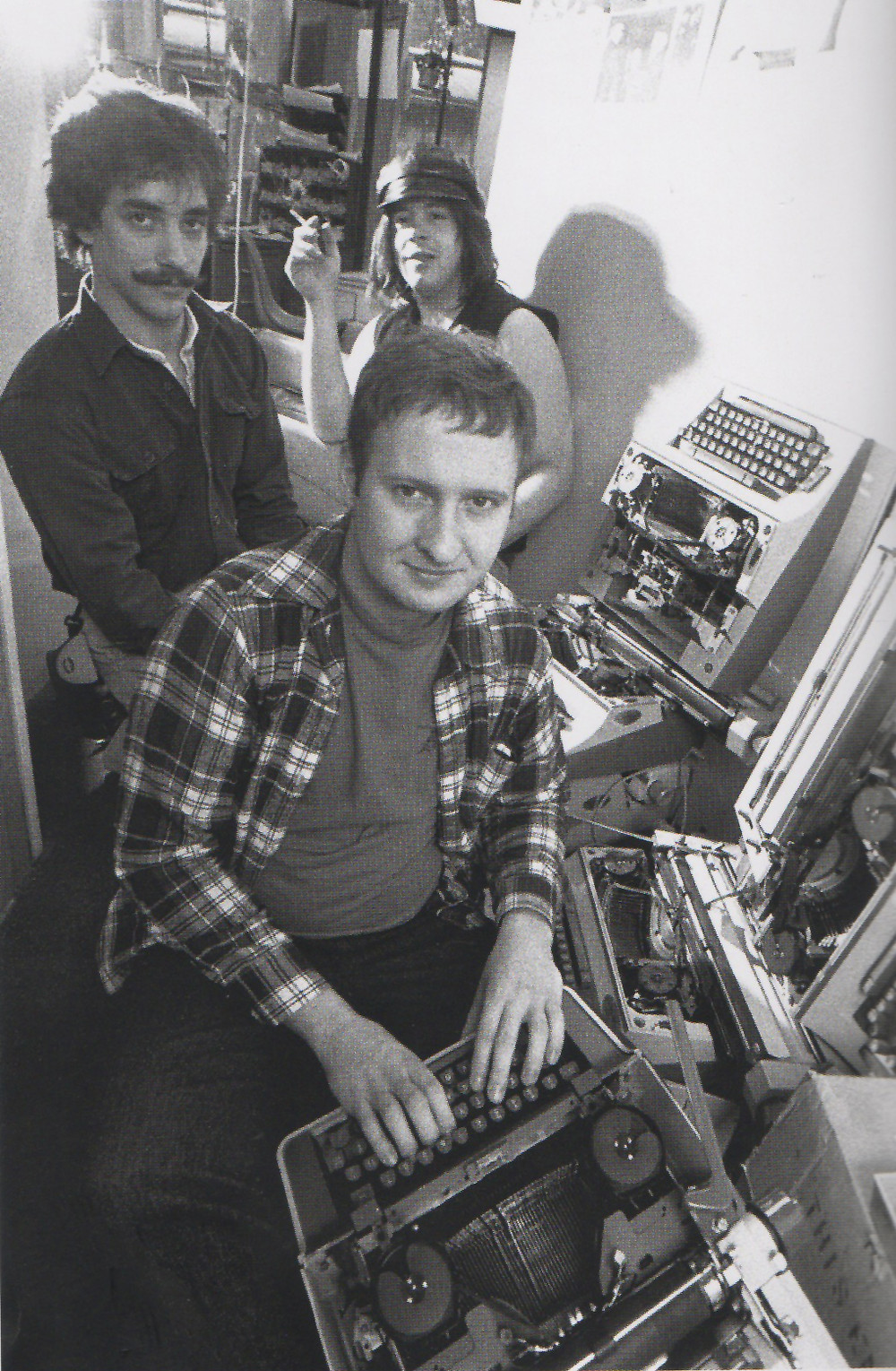 Hüsker Dü at The Minnesota Daily, 1984.  Photo by Daniel Corrigan.