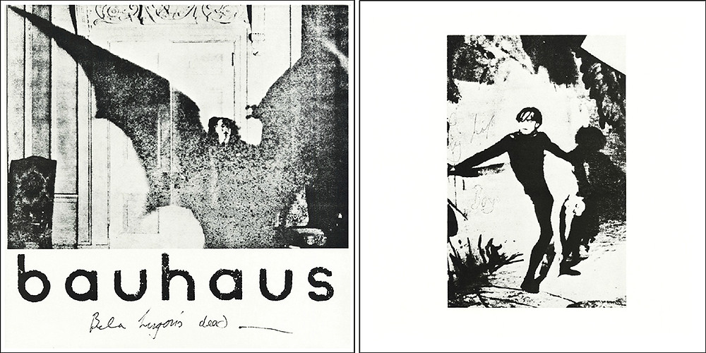 "Artwork for Bauhaus -""Bela Lugosi's Dead"" single."