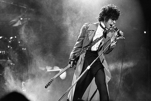 Prince live at First Avenue. Photo by Daniel Corrigan.