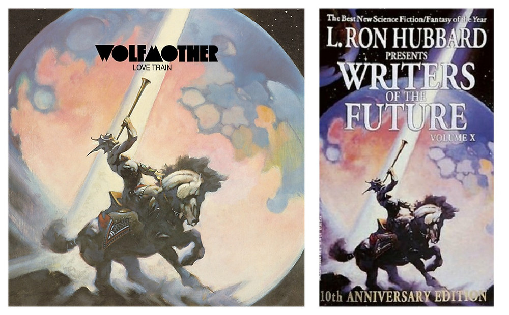 Wolfmother - Love Train (Modular, 2005). Cover art by Frank Frazetta.
