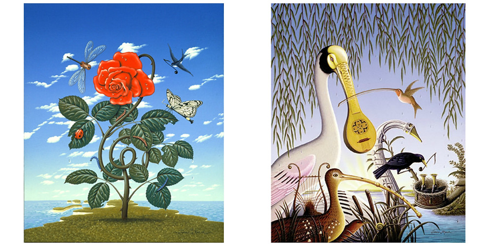 (Left) Summer Sounds and (right) Dawn Chorus by James Marsh