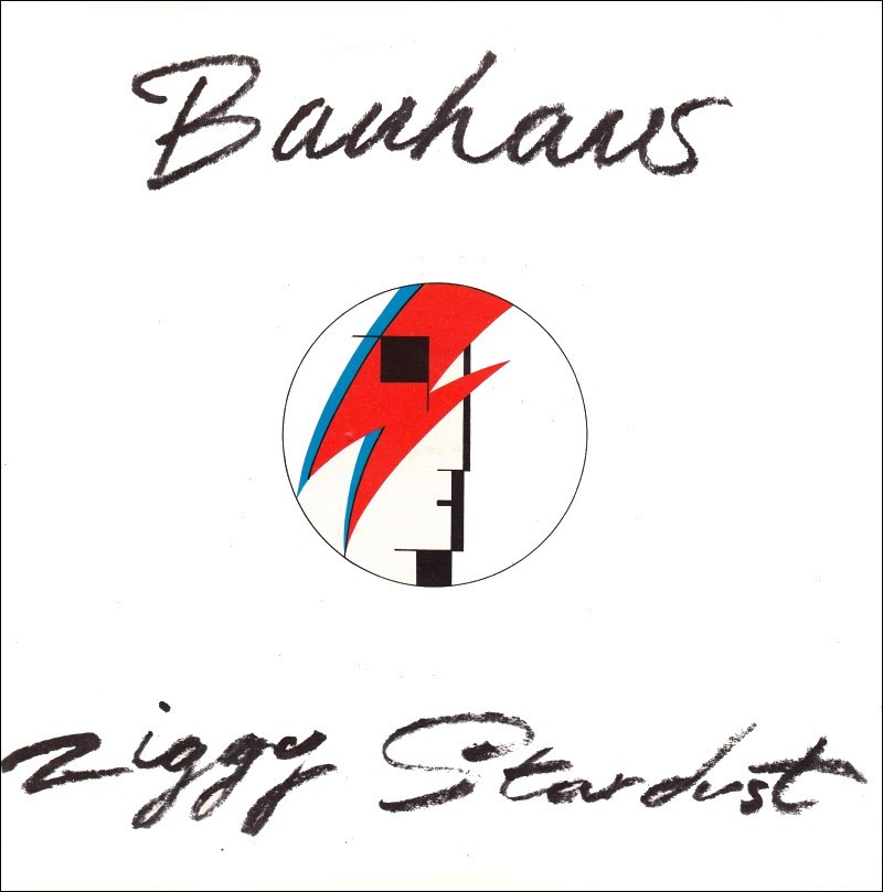 "Cover art for Bauhaus - ""Ziggy Stardust"" single."